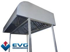 Монтаж втяжных и приточно-вытяжных зонтов на опорной раме