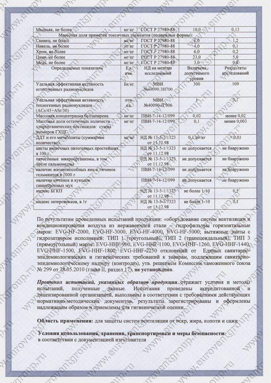 Санитарно-эпидемиологический сертификат
