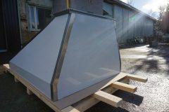 Островной вытяжной зонт ТИП 4 «Пирмида»с вертикальным гидрофильтром