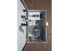 Шкаф автоматики с преобразователем частоты 3 кВт 380 В и погружным настраиваемым термостатом ТС2