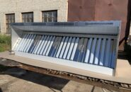 Пристенный приточно-вытяжной зонт ТИП 3 с гидрозатвором для мангала