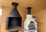 Система дымоудаления над мангалом из черной стали