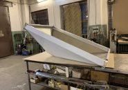Островные вытяжные зонты ТИП 4 из пищевой нержавеющей стали