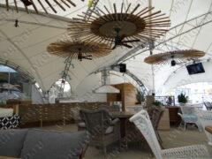 Производство и монтаж системы местной вытяжной вентиляции (мангал, зонт, рабочий стол под мангал) в ресторане на крыше