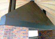 Зонт для мангала, черная сталь