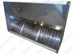 Врезка светильников в верхнюю стенку пристенного вытяжного зонта