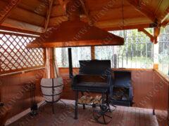 Беседка для барбекю: обшивка медными листами, изготовление и монтаж медного зонта для мангала