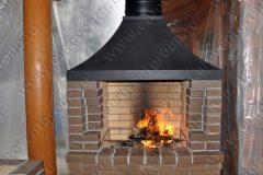 Дымосборник для мангала из серной стали с покрытим черной термостойкой эмалью Камин-20