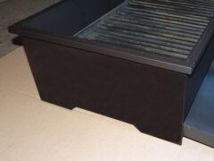 Мангал из черной стали для ресторана 2000х500х200