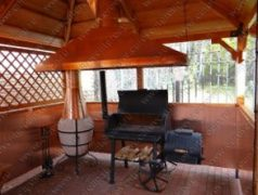 Медный вытяжной зонт для мангала, обшивка стен медными листами