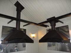 Вытяжные манагальные зонты из черной стали с термопокрытием