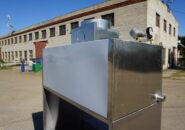 Мангальный комплекс из нержавеющей стали и пристенный вытяжной зонт с гидрозатвором