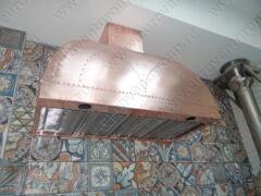 Медный вытяжной зонт для мангала с искрогасящим фильтром