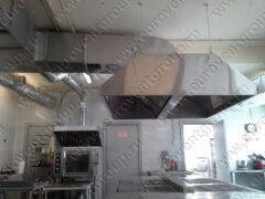 Изготовление и монтаж вытяжных зонтов МВО в горячем цехе комбината питания