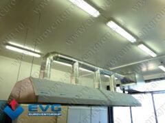 Монтаж вентиляционных зонтов (местных вентиляционных отсосов) на тросах или цепях