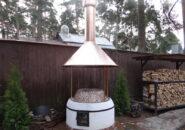 Зонт для мангала, нержавеющая сталь
