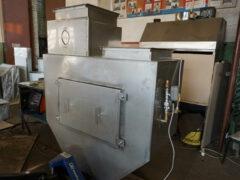 Проточный вертикальный гидрофильтр для печи