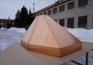 Шестигранная пирамида из меди