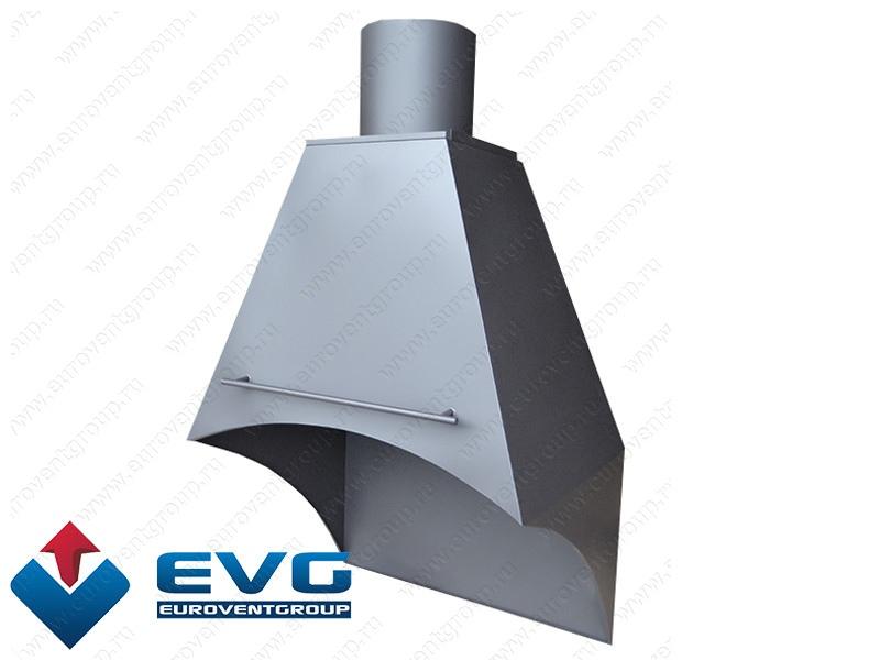Дымосборник вытяжной зонт с шибером для каминов мангалов и барбекю шкаф коптильный для барбекю