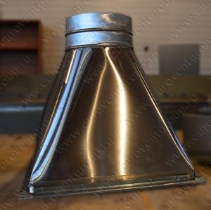 Зонт-переход из шлифованной нержавеющей стали