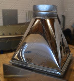 Зонт-переход из зеркальной нержавеющей стали