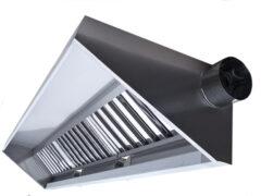 Пристенный вытяжной зонт ТИП 1 с боковой врезкой