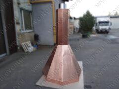 Шестигранный медный дымосборник для каминов и мангалов