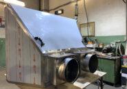 установка над «Хоспером» островного вытяжного зонта с гидрозатвором