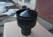 Вытяжной зонт над мангалом из черной стали