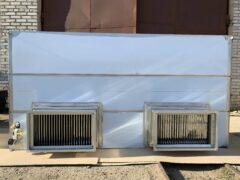 Вытяжной зонт с гидрозатвором увеличенной производительности с дополнительной подсветкой