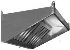Пристенный вытяжной зонт ТИП 1 с ушками крепления и краном для слива жира