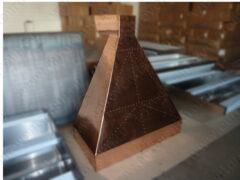 Медные вытяжные зонты для мангалов и каминов