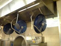 Пристенные вытяжные зонты (местные вентиляционные отсосы) из нержавеющей стали для ресторанов